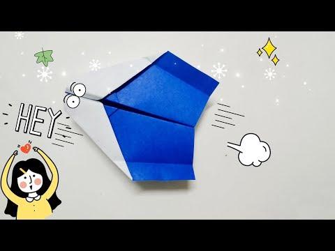 DIY Paper Origami - How to make boomerang plane #8 ✈️