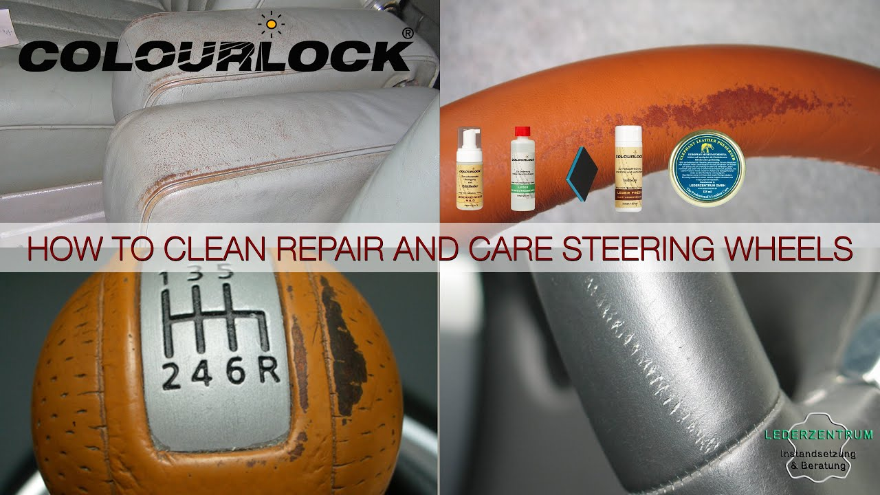 How to clean repair and care car leather www colourlock com