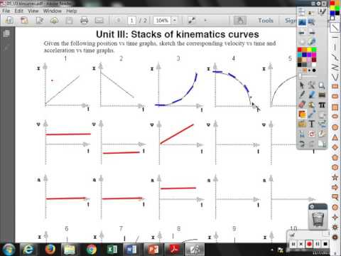 Unit III Stacks Of Kinematic Curves Graphs 1 5 YouTube