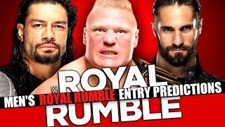 WWE Royal Rumble 2020 Men's Entry Predictions & Order!!