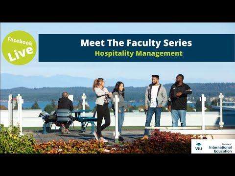 VIU Hospitality Management Program Live Session- JAN 29, 2020