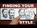 Finding your Drawing Style - A Sketchbook Exercise