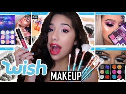 Full Face Using Makeup From Wish!