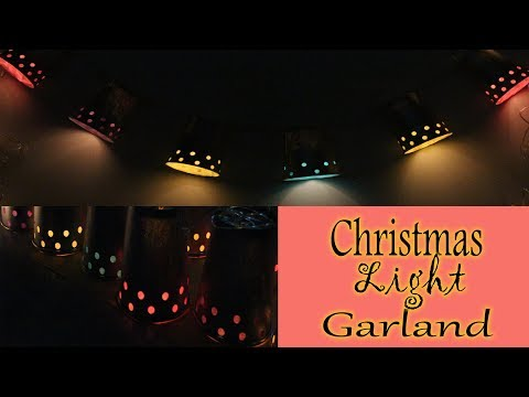 DIY Paper Cup Light Garland   How to make Christmas crafts at home  Christmas Light Garland Tutorial