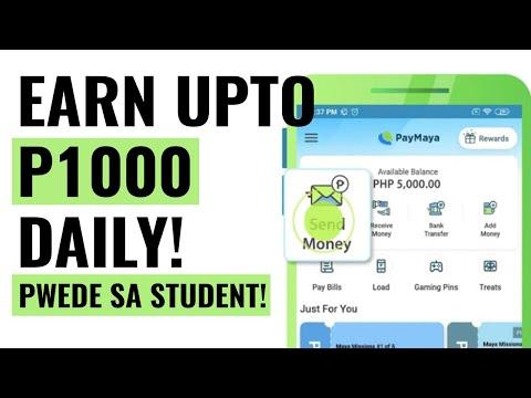 Earn up to P1000 per day! Paano kumita ng P1000 up to P5000 sa Paymaya ng libre!