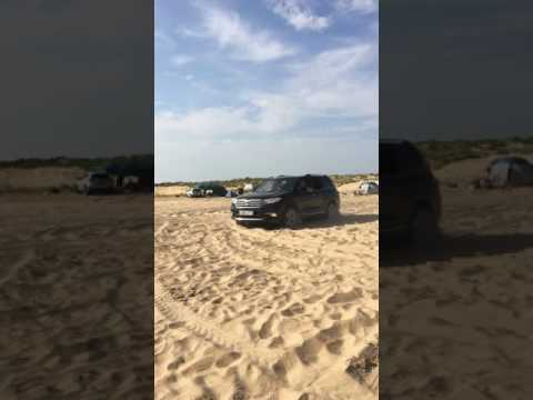 Тойота Хайлендер.Проходимость по песку.