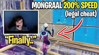 Mongraal Editing With 200% Speed For The First Time (Legal Cheat)