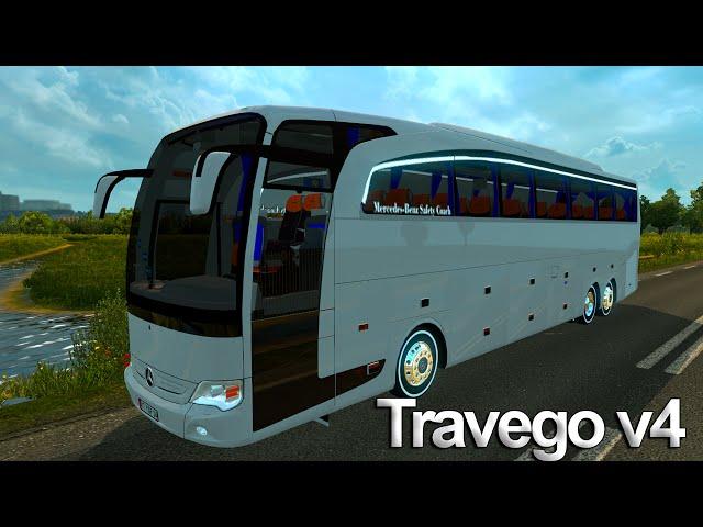 euro truck simulator 2 mercedes-benz travego 15-17 shd v4 otobüsü