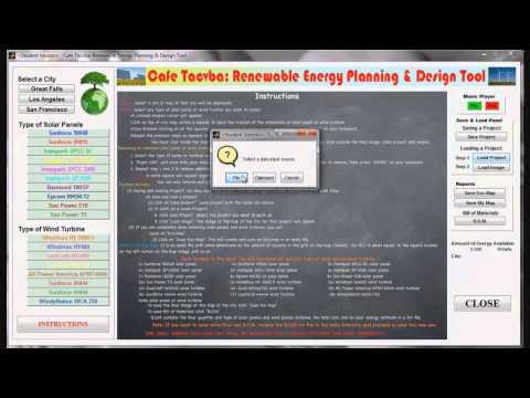 ENG6: Cafe Tacvba Renewable Energy Planning & Design Tool.