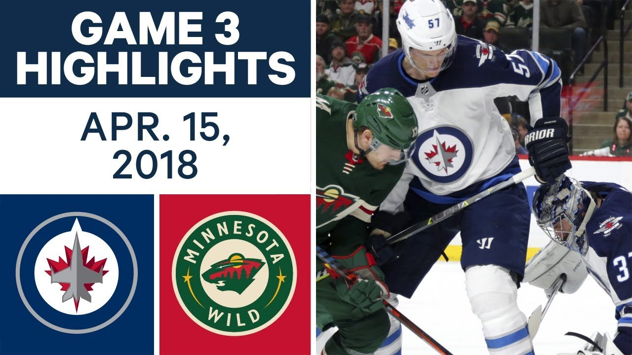 NHL Highlights | Jets vs. Wild, Game 3 - Apr. 15, 2018
