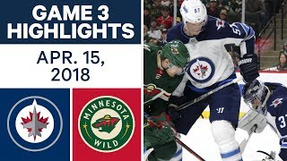 NHL Highlights | Jets vs. Wild, Game 3 - Apr. 15, 2018