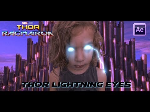 Thor Lightning Eyes Effect And Thor Lightning Effect