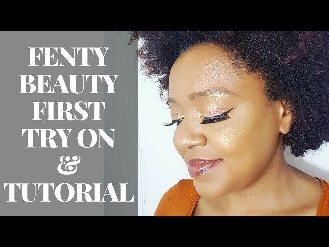 THAT FENTY GLOW HUNTY! FENTY BEAUTY FIRST IMPRESSIONS DEMO AND REVIEW! | THE CURLY CLOSET
