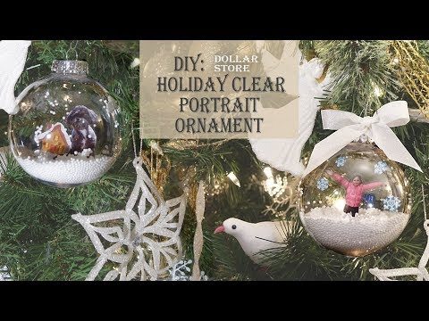 Holiday / Christmas DIY / Clear Portrait Ornament