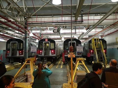 NYC Subway HD 60fps: New York Transit Museum Jerome Yard (Mosholu Yard) Shop Tour 11/13/16