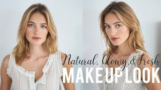 Natural Glowy & Fresh Make Up Look | Model Tutorial | Sanne Vloet