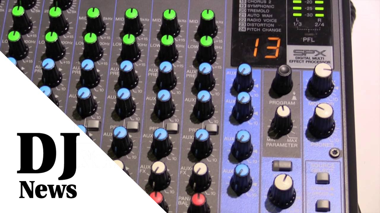 Yamaha Mg Series Mixers From Namm2014 By John Young Of The Disc Mg16xu Jockey News Youtube