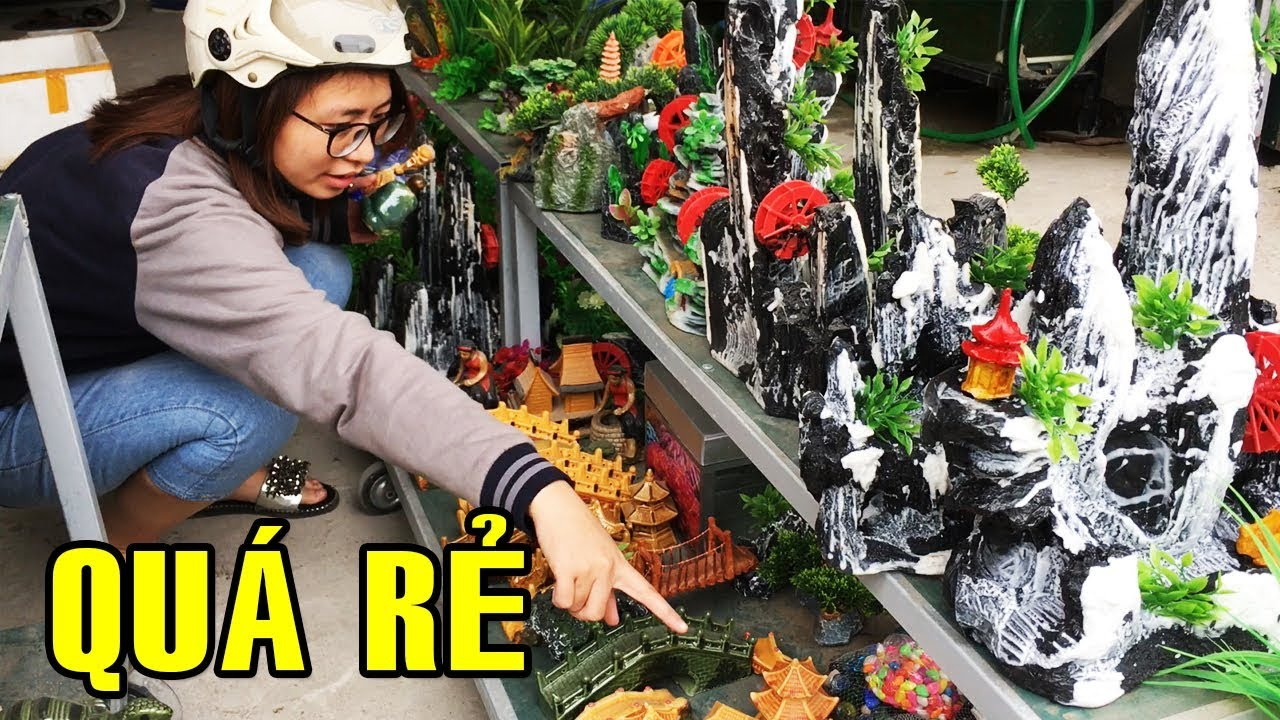 Đồ trang trí bể cá cảnh bán rẻ bèo | Hanoi City Tour