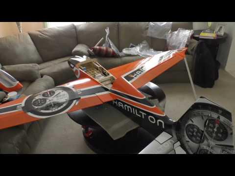 Pilot RC Edge 540 V3 60 cc size test fit - YouTube