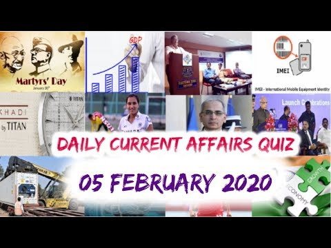 Download Daily Current Affairs February 05 , 2020 : English MCQ   GKToday