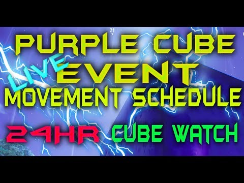FORTNITE - 24HR Purple Cube Event LIVE Watch - Cube Is Moving Again Live  Countdown Times Schedule