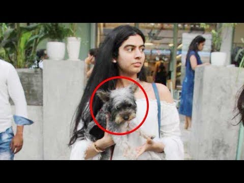 Download Sridevi's younger daughter Khushi spotted with a cute pet dog