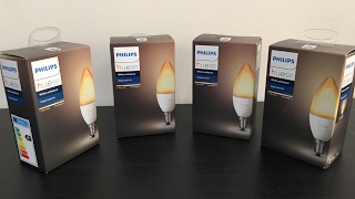 Unboxing New Philips Hue Ambiance Personal Wireless LED Lighting Edison Screw Bulb, White, E14, 40 W