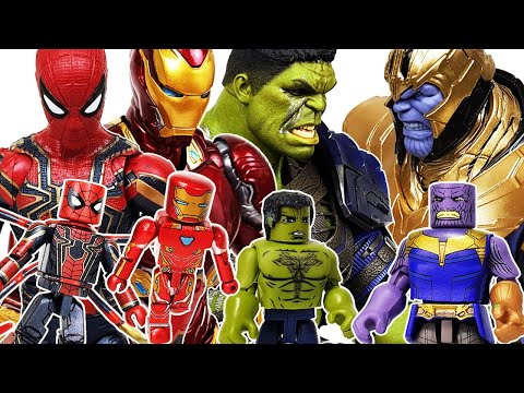 Avengers Minimates Go~! Iron Man, Captain America, Spider-Man, Thanos, Thor, Hulk