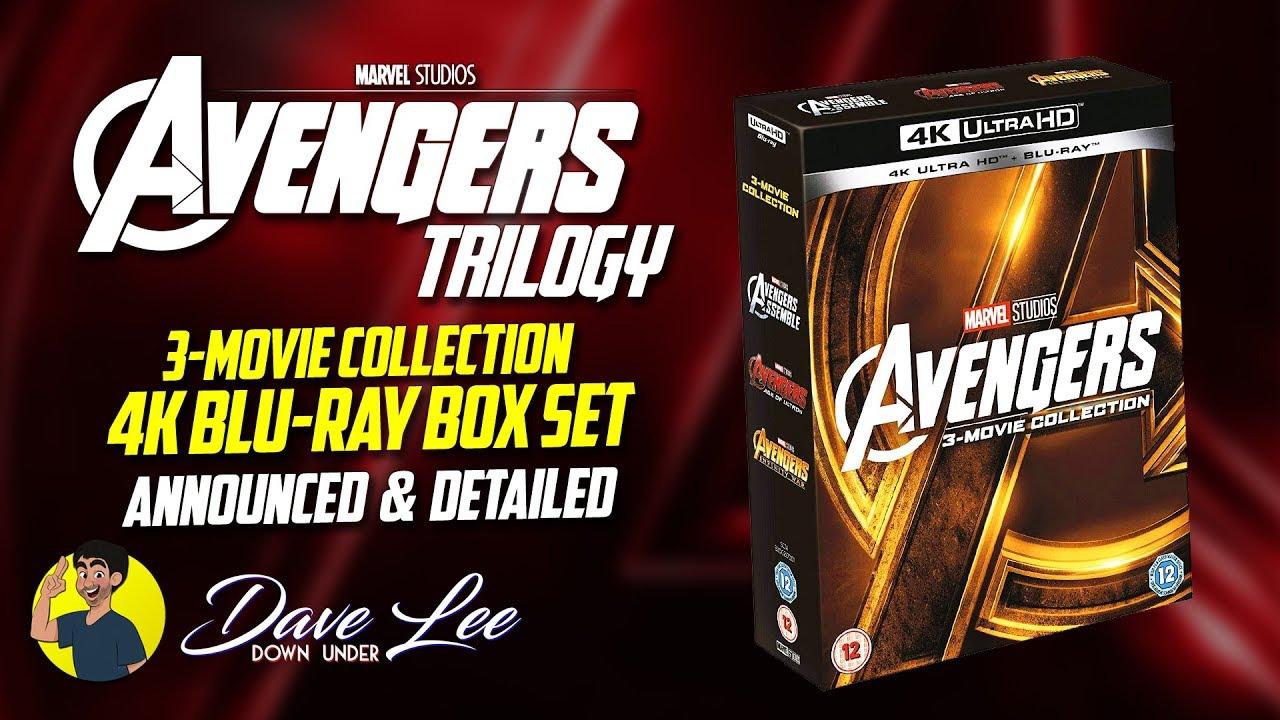 AVENGERS TRILOGY - 4K Blu-ray Box Set Announced & Detailed