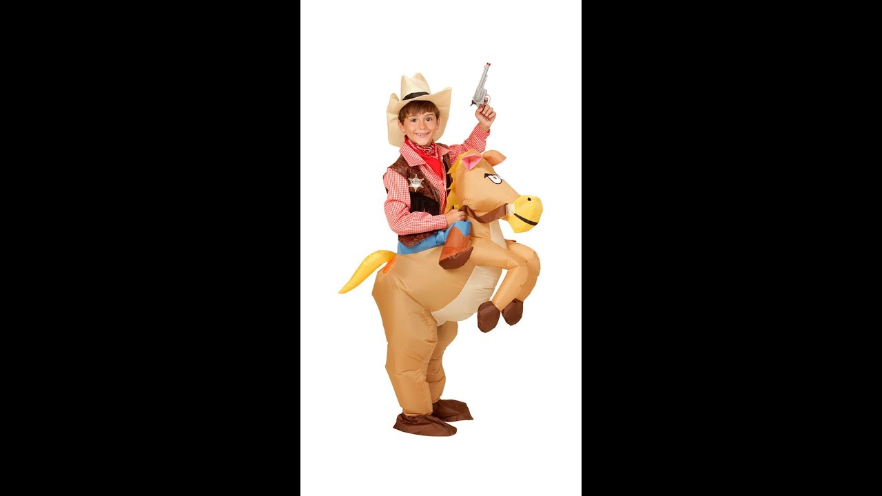 75501 -  HORSE  (airblown inflatable costume with bridle u0026 hat)  sc 1 st  YouTube & 75501 -