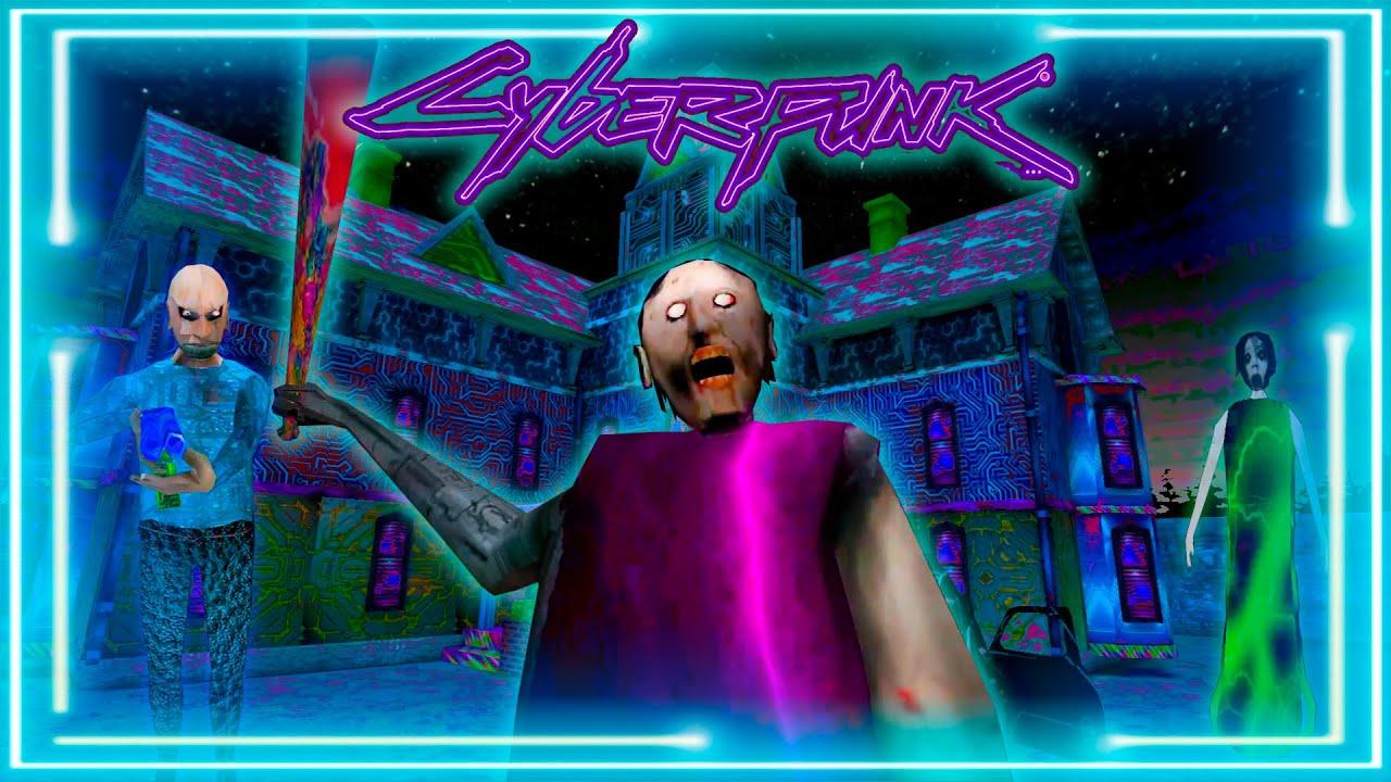 Granny 3 Cyberpunk mod! Train Escape Ending! Funny moments at granny's house!