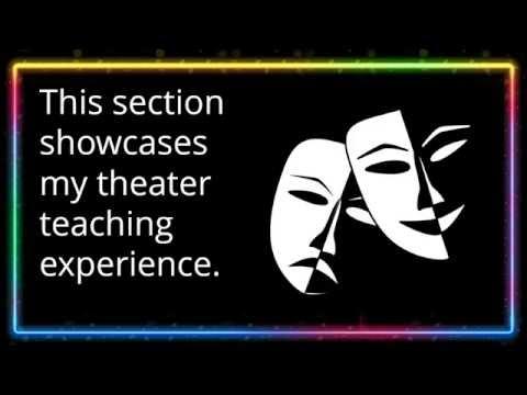 Theater teaching portfolio from Rick Sheridan