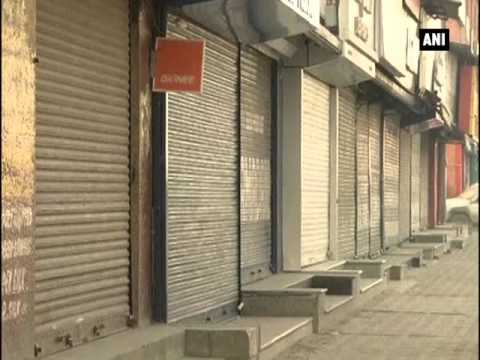 Shutdown observed in Kashmir Valley
