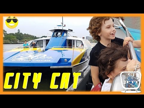 Lets go cruising on the Brisbane City Cat boat ferry! - EP 75