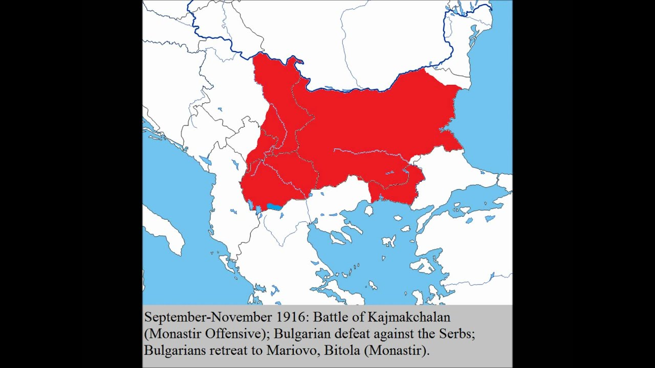 Bulgaria On Map Of World.Bulgaria During Ww1 Youtube