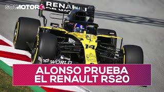 Fernando Alonso prueba el Renault RS20 en un filming day | SoyMotor.com