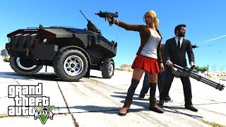 GTA 5 Zombie Apocalypse Mod - ZIL PUNISHER ARMORED VEHICLE - MICHAEL's FAMILY SURVIVAL
