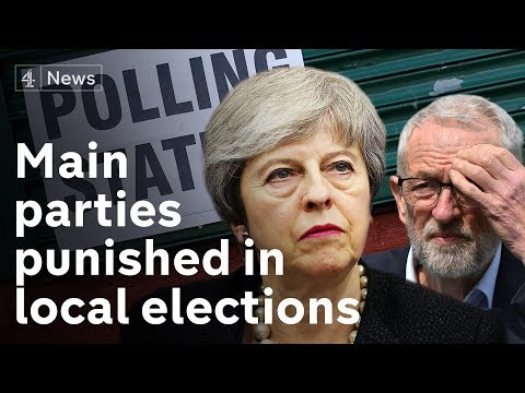 Tories and Labour punished in local elections