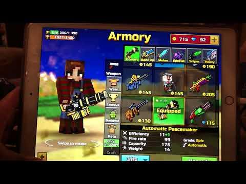 Glitches on Pixel Gun 3D (Guns in Sandbox/ColorCodeName)