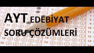YKS - AYT Tanzimat Edebiyatı Soru Çözümleri  (Sınav Formatında)