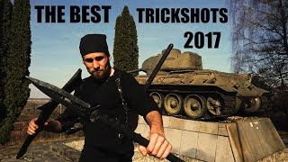 SAVAGE LEVEL 666% TRICK SHOTS WITH THROWING WEAPONS 2017