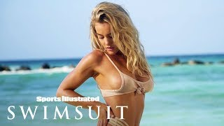 Georgia Gibbs Takes Wet T-Shirt To The Next Level With Cut-Off Tank | Sports Illustrated Swimsuit