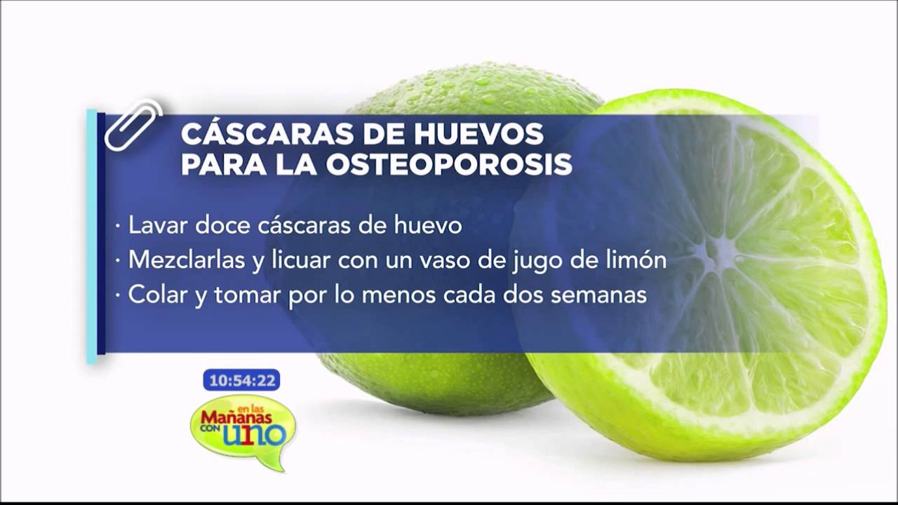 que jugos debo tomar para la osteoporosis