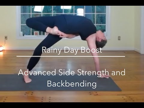 Guided 50 minute Advanced Hatha Yoga Practice: Backbending and Side Plank Variations