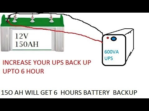 150 ah battery connecting to 600 va ups for more backup youtube ups battery backup wiring diagram 150 ah battery connecting to 600 va ups for more backup