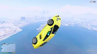 GTA 5 High Speed Jump Crash Test Lamborghini Aventador (GTA V Mods Gameplay)