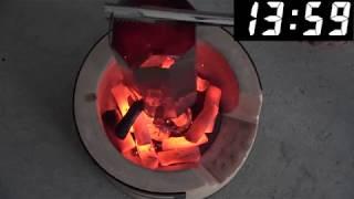 ユーカリ白炭の着火
