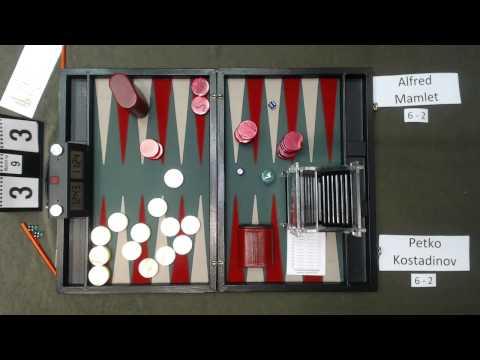 Carolina Backgammon R9 Petko Kostadinov v Alfred Mamlet Part 1