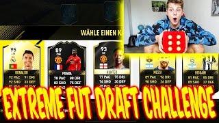 FIFA 17: EXTREME WÜRFEL FUT DRAFT CHALLENGE! 😰😰 - ULTIMATE TEAM (DEUTSCH) - FUßBALL