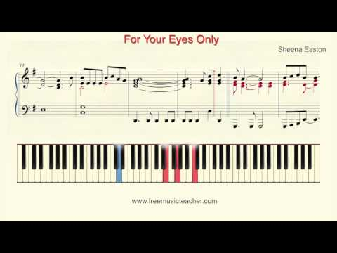 "How To Play Piano: Sheena Easton ""For Your Eyes Only"" Piano Tutorial by Ramin Yousefi"